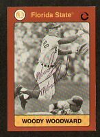 Woody Woodward signed Florida State Collegiate Card