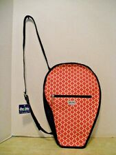 Ame & Lulu Tennis Racquet Cover Bag with Adjustable Shoulder / Cross-Body Strap
