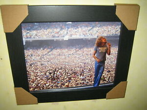 Robert Plant {Led Zeppelin} Signed Photograph (8x10) Framed With CoA