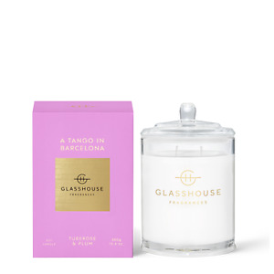 380g Glasshouse Fragrances A TANGO IN BARCELONA Soy Candle Large Glass Scent