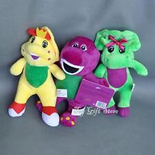 "Cute 3PCS Barney & Friend Baby Bop BJ Plush Doll Toy 7"" New"