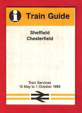 Pocket British Rail Timetable - BR(Eastern): Sheffield to Chesterfield: May 1989