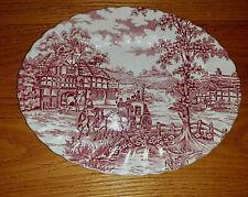Coaching Days Myott Platter Red Hand engraved Pattern 29cm