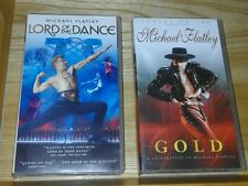 2 x vhs video tapes Michael Flatley Lord of the Dance and Gold: A Celebration of