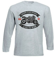 DUCATI 900 SS - GREY LONG SLEEVED TSHIRT- ALL SIZES IN STOCK