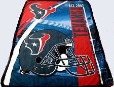 Houston Texans blanket bedding 60x80 Twin Full FREE SHIPPING NFL sherpa  throw