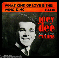 JOEY DEE & THE STARLITERS-Wing Ding & What Kind Of Love Is This-Picture Sleeve