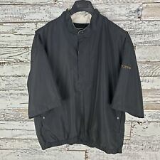 Dry Joys By Foot Joys Mens Short Sleeve Rain Jacket Black Size Large