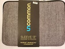 Uncommon 13 Sleeve for Mac Book Pro Gray Padded Sleeve Case