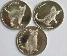 STROMA 2016 3 coins set Cats
