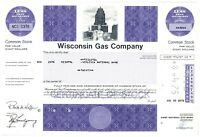 Wisconsin Gas Company Common Stock Certificate 20 Shares
