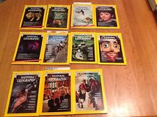 1974 National Geographic Magazine Incomplete Year 11 Issues