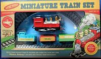 Miniature Railway Train Set With Locomotive & 3 Carriages Age 3+ Battery Powered