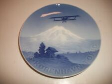 "Bing And Grondahl Plate 1926 1St Flight From Copenhagen To Toyko 7""Dia. Cm#65"