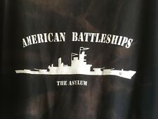 American Battleships The Asylum CREW Tee Shirt Global Asylum Black Men's XL
