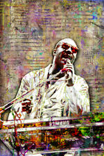 Stevie Wonder Poster, Stevie Wonder Music Tribute with Free Shipping Us