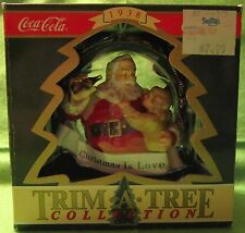 "Coca Cola Trim A Tree Collection ""Christmas is Love"" Santa w/Little Girl 1938"