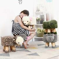 LARGE WOODEN ADULT LUXURY ANIMAL FOOTSTOOL OTTOMAN POUFFE REST SEAT SOFA CHAIR