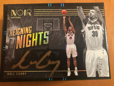 Dell Curry 2019-2020 Panini Noir /5 Gold Ink