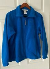 Boys Columbia Fleece Jacket Large 14/16 Blue Perfect Condition Zipper Pockets