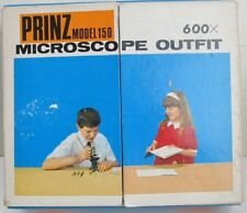 RARE VINTAGE CHILDREN'S PRINZ MODEL 150 MICROSCOPE OUTFIT 600X
