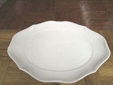 """6 Villeroy & Boch """"La Scala"""" 1748 Germany White Porcelain Oval Plates 14"""" x 10"""""""