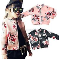 2-7Y Baby Kids Girl Floral Coat Long Sleeve Winter Spring Casual Jacket Clothes