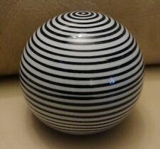 "Ball Blue White Striped Ceramic Large 3"" Decorative Carpet"