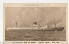 Union Castle Royal Mail Steamer Edinburgh Castle Shipping Postcard, B521