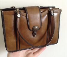 Cutest Unique Vintage 40's? Italian Leather Handbag Small & Quirky, With Purse