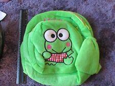 PLUSH FROG Kids BACKPACK BAG