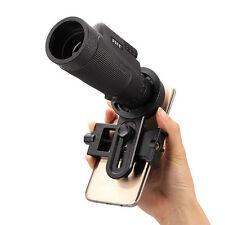 Universal 12x50 Hiking Concert Camera Lens Telescope Monocular with Holder
