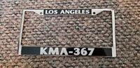 LOS ANGELES POLICE KMA-367 CAR  LICENSE PLATE FRAME