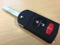 Mazda Remote Flip Key Fob CASE/SHELL 3 Button Mazda 3 6 RX-8 CX-7 CX-9