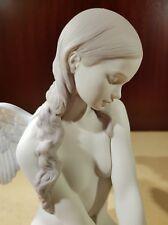 Porcellana artistica Biscuit. Angelo meraviglioso  Fantastica creazione.