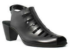 Munro Womens Abby Black Ankle Strap HEELS Size 6 (a N)