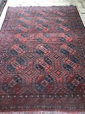 Antique Art Deco Turkmen RUG Handmade Carpet SIZE: 330x230 Cm