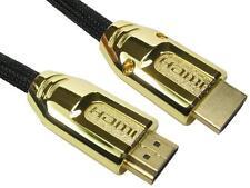1 metros cable HDMI con Ethernet Rápido Trenzado + Metal Oro Blindado De Campana