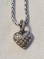 Brighton Diamond Heart Swarovski charm J92312 B139