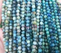 4mm Genuine Larimar Round Gemstone Loose Beads 40pc beauty