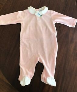 NEW with tags Jacadi Baby Girl Pink One Piece / Jumpsuit / Footie Size 6M