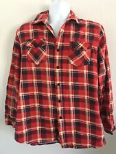 VINTAGE MENS RUGGED BRAND 1970's PLAID SHIRT SIZE LARGE SURFER SKATER BUTTONDOWN