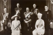 """mm736 - King George V & Queen Mary & adult children group  - Royalty photo 6x4"""""""