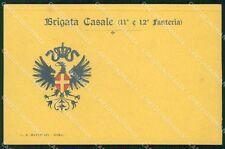 Militari 11º 12º Reggimento Fanteria Brigata Casale cartolina XF4396