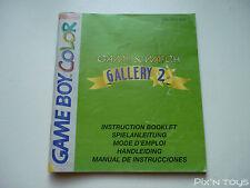GAME BOY COLOR / Notice, Instruction Game & Watch Gallery 2 [DMG-AGLP-NEU5]