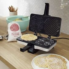 Waffle Maker Baker Pizzelle Cookie CucinaPro Iron Electric Chrome Italian NEW