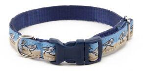 Douglas Paquette SEABIRDS Nylon & Ribbon Adjustable Dog Collar Harness Lead