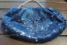 orYANY Wendy  Evening Bag Chain Royal Blue Silver Sequin Clutch