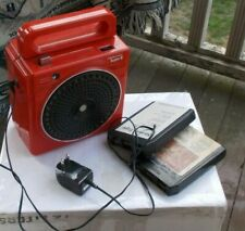 Rare Vintage Red Portable Soundesign 8 Track Player Radio Model 4009 Working Nr