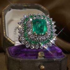 Fashion 925 Silver Blue Sapphire Amethyst Gemstone Turquoise Wedding Ring Sz6-10